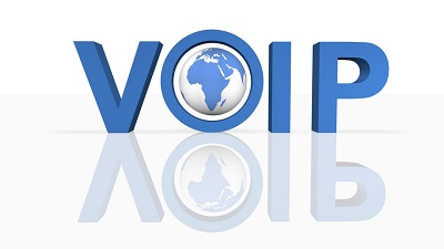 3d voip word graphic